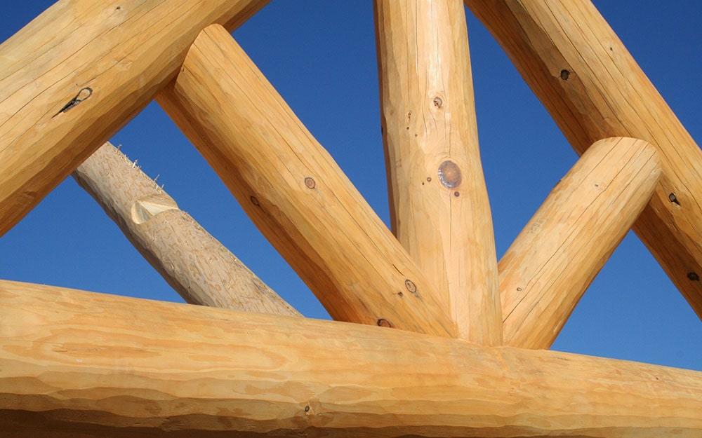 Custom log cabin home construction