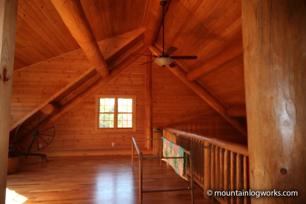 Cozy log cabin upstairs loft