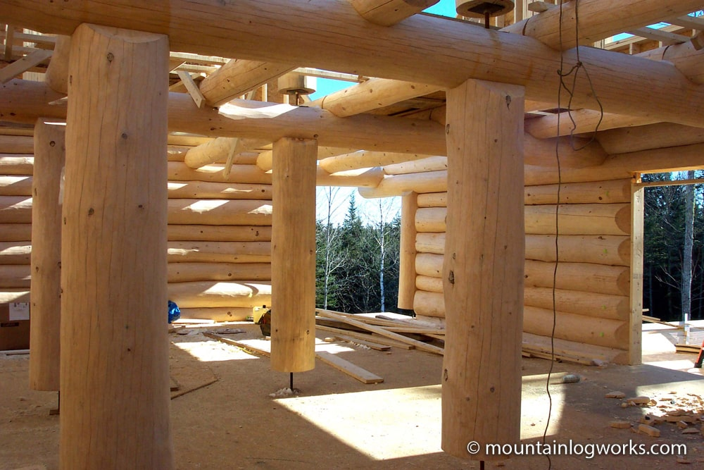Log cabin interior construction