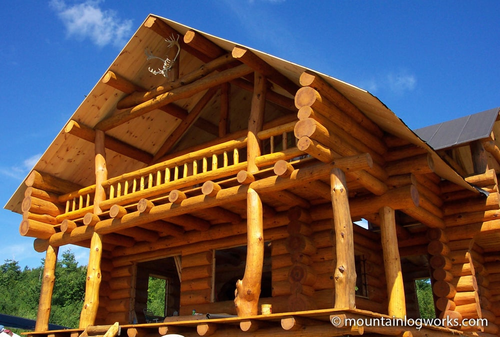 Full scribe custom log cabin home