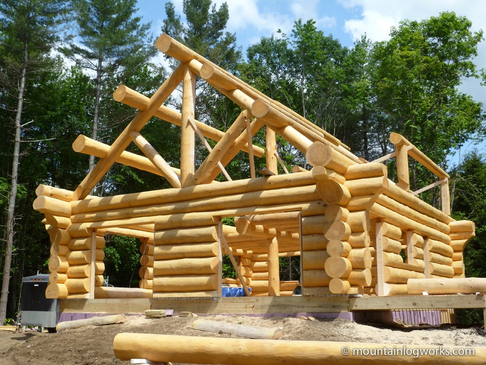 Building a log cabin home