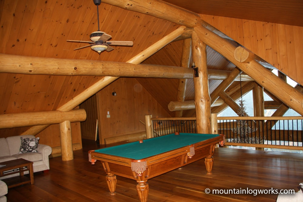 Log cabin upper game room