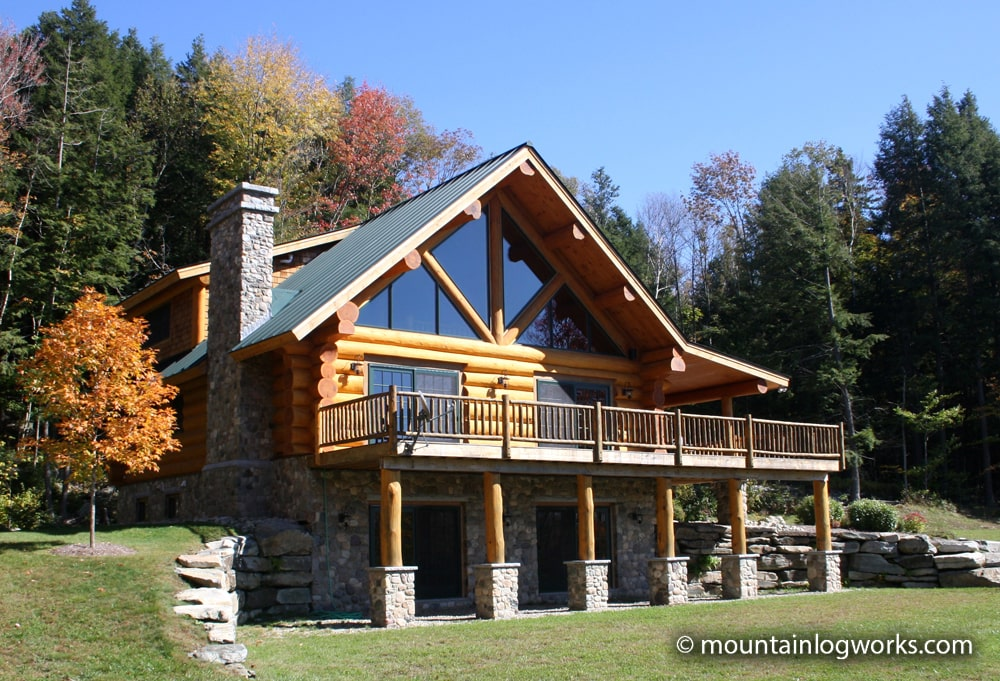 Log cabin dream home in vermont