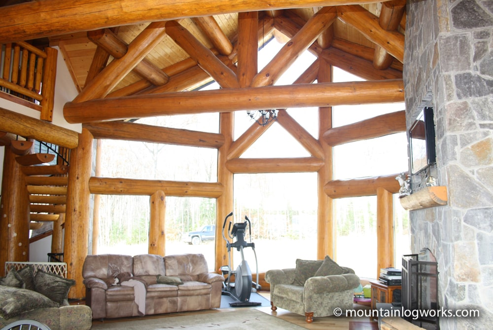 Log Timber Frame living room