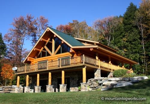 Custom dream log cabin home in vermont